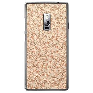 Loud Universe OnePlus 2 Floral Decorative Printed Transparent Edge Case - Beige