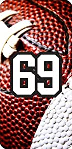 Basketball Sports Fan Player Number 69 White Rubber Decorative iPhone 4/4s Case
