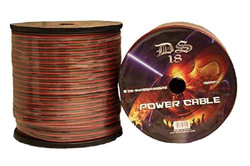 DS18 SW-16GA-1000RB-2pk 1000-Feet 16 Gauge Speaker Wire Roll - Set of 2 by DS18