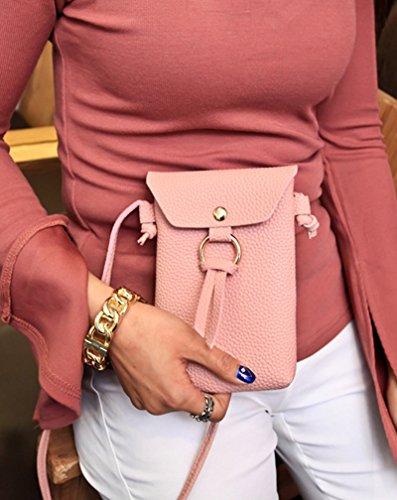 JD Million shop 2017 New Arrival PU Leather Tassel Phone Bag Vintage Shoulder Bags Crossbody Bags For Women Mini Messenger Bag Casual Gifts (Yves Saint Laurent Vintage Tie)