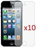 eTECH Collection 10 Pack of Anti-Glare & Anti-Fingerprint (Matte) Screen Protectors for Apple iPhone 5/5S/5C AT&T, T-Mobile, Sprint, Verizon -- Free Shipping From USA!!