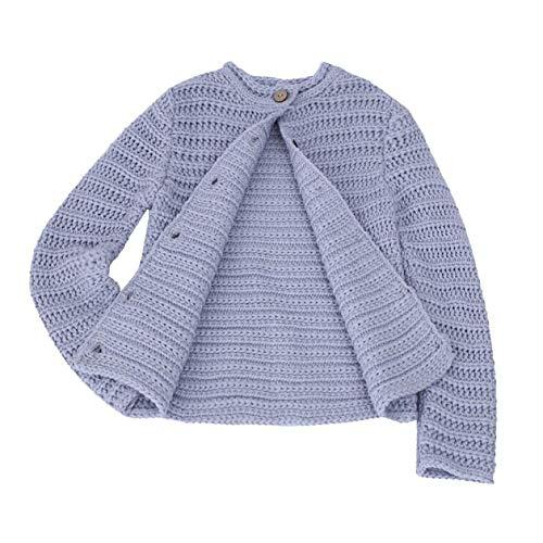 Sameno Toddler Kids Baby Girls Autumn Winter Knitted Sweater Button Cardigan Warm Coat Clothes (2-3 T, Purple) ()