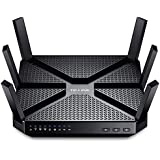 [Vecchio Modello] TP-Link Archer C3200 Router Gigabit Tri-Band, Processore Dual Core 1 GHz , Wi-Fi  fino 3.2 Gb, 5 Porte Gigabit, Tasto LED/Wi-Fi On/Of, 2 USB (2.0 e 3.0), 6 Antenne