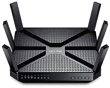 TP Link Archer C3200 AC3200 Wireless Tri Band Gigabit Router Black  Routers
