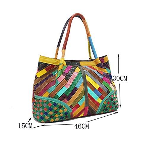 Eysee - Cartera de mano para mujer Varios colores multicolor 46cm*30cm*15cm negro
