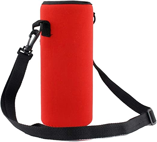 Portable Water Bottle Carrier Insulated Cover Bag Holder Strap Pouch Outdoor