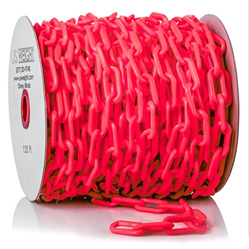 US Weight ChainBoss Plastic Chain – 125 Feet, Red -