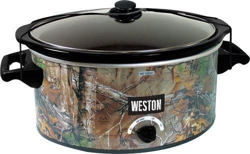 Weston Realtree Slow Cooker, Green, 8 quart