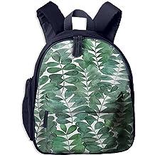 Watercolor Leaves Small Kid' Bag For Girl School Backpacks