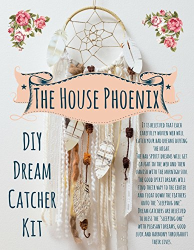 Cream DIY Dream Catcher Craft Kit Project Birthday Gift by The House Phoenix from The House Phoenix