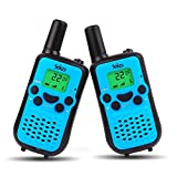 Dr.fasting Walkie Talkies, Wireless Interphone 22 Channel FRS/GMRS 2 Way Radio 2 Miles (up to 3 Miles) UHF Handheld Walkie Talkies for Kids,Business Outdoor Use(4 Pair) (Blue)