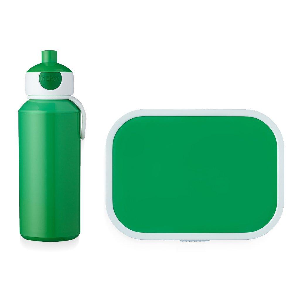 0 mm Set per Pranzo Campus Colore: Verde Lime con Borraccia e Contenitore per Il Pane MEPAL