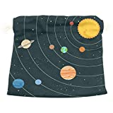 Dragon Sword Solar System Illustration Gift Bags Jewelry Drawstring Pouches for Wedding Party, 8x12.6 Inch
