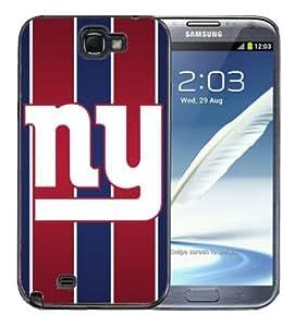 Samsung Galaxy Note 2 Black Rubber Silicone Case - NY Giants Football WANGJING JINDA