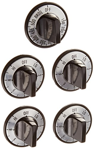 ERP KN002 Electric Range Burner Knob Kit Black Burner Knob