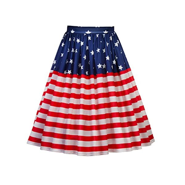 American Flag Vintage Pleated Skirt