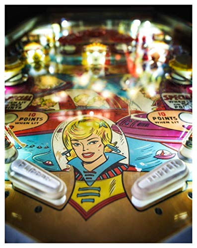 - Antique Pinball Machine Fine Art Print - 11x14 Unframed Photo Print - Great Gift For Pinball Fans and Arcade Machine Fans. Perfect for the Home, Game Room or Dorm Decor- Gift Under $20