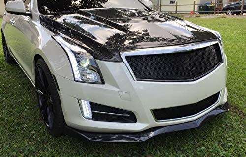 Fiber Deluxe Carbon - 3pcs/Set Carbon Fiber Looking Front Splitter Lip for Cadillac ATS 2013-16