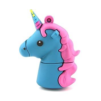 "16GB Cartoon Cute Unicorn USB Flash Drive Animal Horse Memory Thumb Stick /"""