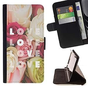 Ihec-Tech / Negro Flip PU Cuero Cover Case para Samsung Galaxy S4 IV I9500 - Yellow Rose Red Flowers