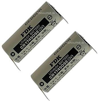 2 x Sanyo FDK batería de litio CR174 50SE 3 V Soldadura Accu battery pilas Bateria Aku acku: Amazon.es: Electrónica