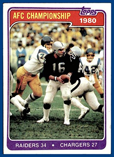 - 1981 Topps #493 1980 AFC Championship OAKLAND RAIDERS vs. SAN DIEGO CHARGERS Jim Plunkett (ex-mt)