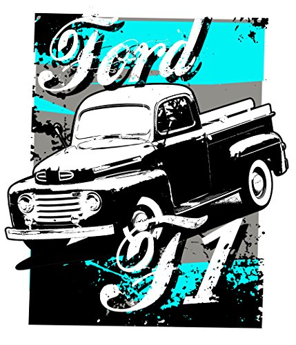 1948 F1 Aqua Retro Wall Decal (4ft Tall) Vintage Sticker Car Poster Mural Garage Man Cave Decor Christmas Gift for - Gifts For Men F1