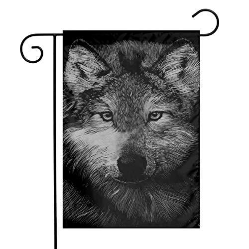Alpha Wolf Home Garden Flag 1218