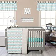 Trend Lab Seashore Waves 3 Piece Crib Bedding Set, Teal