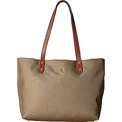 LAUREN Ralph Lauren Women's Bainbridge Shopper Khaki One Size