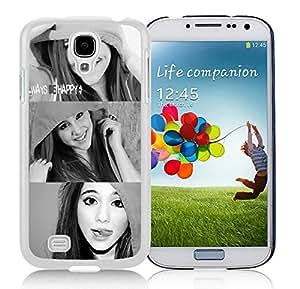 Ariana Grande 02 White Unique Hard Samsung Galaxy S4 I9500 Phone Case