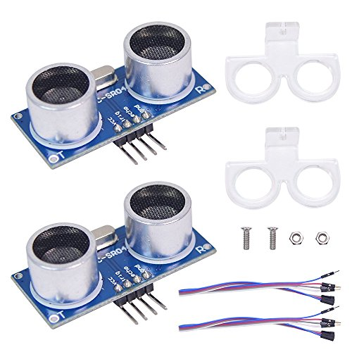 (XiaoR Geek 2pcs Ultrasonic Module HC-SR04 Distance Sensor with 2pcs Mounting Bracket for Arduino Uno R3 Mega 2560 Nano Raspberry Pi 3 Smart Robotics Projects)