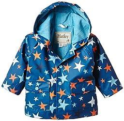 Hatley Baby Boys\' Raincoat Stars, Blue, 12 18 Months