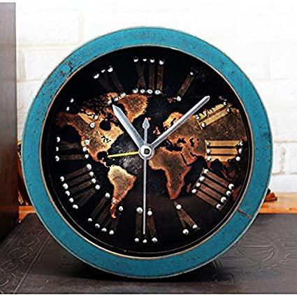 Buy new alarm clock 3d stereoscopic rivet despertador wood clock new alarm clock 3d stereoscopic rivet despertador wood clock saat digital watch retro world map gumiabroncs Images