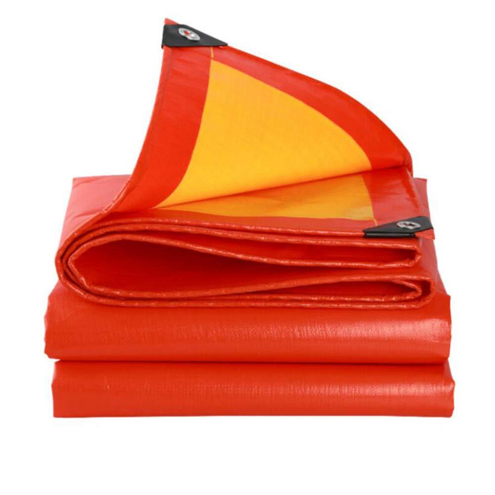 MuMa Plane Orange Verdicken Regenfest Wasserdicht Sonnencreme Schatten Ultraleicht Schuppen (Farbe   Orange, größe   4  8m)