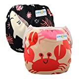 Babygoal Baby Swim diapers, Reusable Washable and Adjustable for Swimming, Outdoor Activities and Daily Use, Fit Babies 0-2 Years 2SWD0714-CA