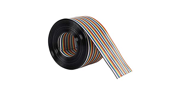 Asiproperuk - Cable Plano para PCB (1,27 mm), Color arcoíris ...