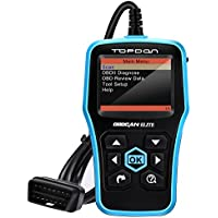 OBD2 Scanner, Topdon ABS/SRS Scanner Universal CAN OBD2 Scanner OBDII Car Computer Diagnostic Tool Car Code Reader for DIY and Professional( Topdon Elite)