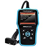 ABS SRS OBD2 Scanner, TT TOPDON Elite CAN OBD Diagnostic Tool OBDII EOBD Car Code Reader, Airbag Scan Tool Engine Code Reader for Reading and Clearing Vehicle Trouble Codes (Upgrade)