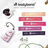 BodyBand Latex Resistance Bands for Exercise, 4 in 1 Combo for...
