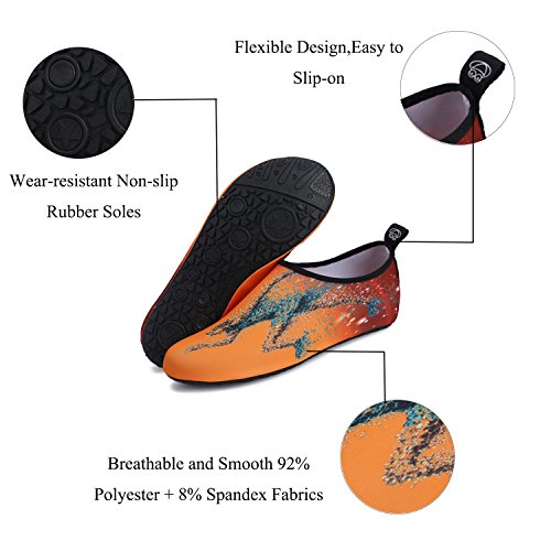 JOINFREE Damen Herren Kid Sommer Wasser Schuhe Barfuß Schuh Quick Dry Aqua Socken Yoga Regenbogen Schwarz