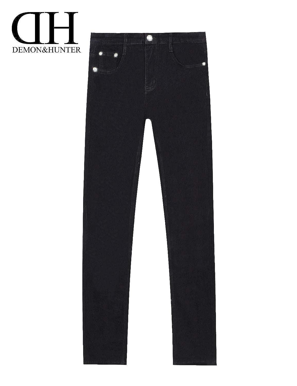Demon&Hunter 808 Skinny Series Hombre Pantalones Vaqueros Pitillos Jeans