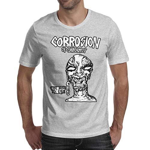 Walter Fanny Men Corrosion-of-Conformity- Fashion Soft Cotton Short-Sleeve Round Neck T Shirt ()