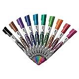 BIC Magic Marker Dry Erase Marker, Fine Bullet Tip, Assorted Colors, 12-Count