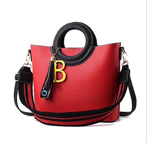 Tote 27 Simple colore Lady Wild elegante misura Temperament Personalità Comodo 11 24 Casual Donna Rosso rosso Bag cm rXPZqFwcpr