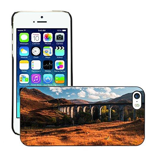 Stampato Modelli Hard plastica Custodie indietro Case Cover pelle protettiva Per // M00421617 Pont Paysage Stone Building // Apple iPhone 5 5S 5G