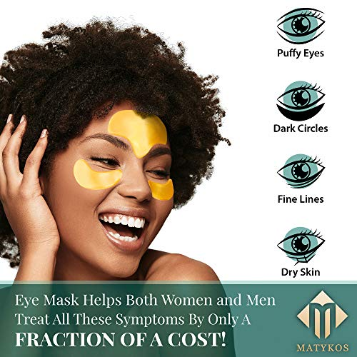 51m7E9hFglL - 24K Gold Collagen Under Eye and Forehead Patches - Under Eye Mask for Dark Circles Bags Treatment - Dermatologist Approved - No Parabens, Natural and Vegan, No Hidden Chemicals, Cruelty-Free - 10 Pcs