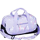 Wildkin Overnighter Duffel Bag, Features Moisture-Resistant Lining Padded Shoulder Strap, Perfect Sleepovers, Sports Practice Travel, Olive Kids Designs, Unicorn
