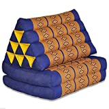 Tungyashop@thai Traditional Cushion Kapok Mattress (Yellow-blue, 2 Fold)