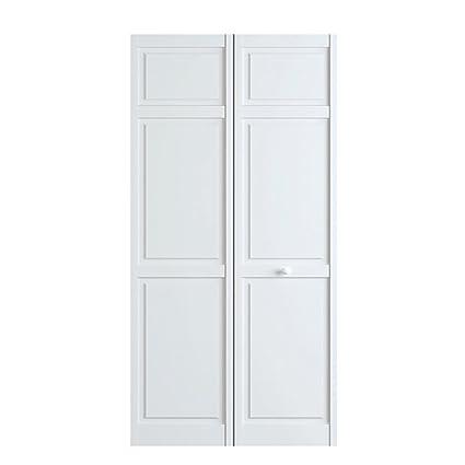 Closet Door, Bi Fold, 6 Panel Style Primed White 1x30x80